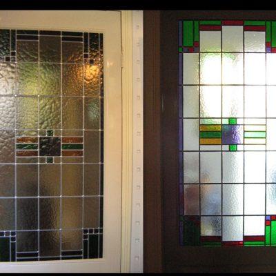 portaaldeur glas in lood