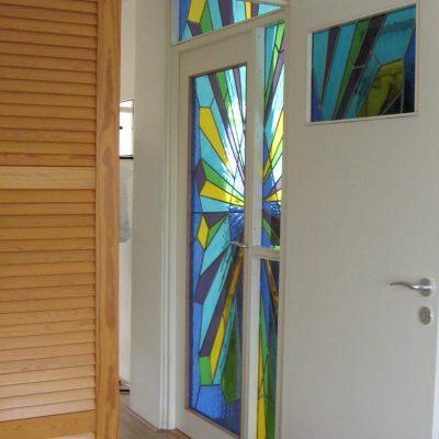 modern glas in lood
