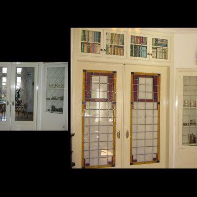 glas in lood restauratie oude en nieuwe situatie