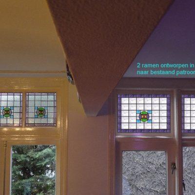 rechts 2 glas in lood ontwerpen naar bestaand patroon links